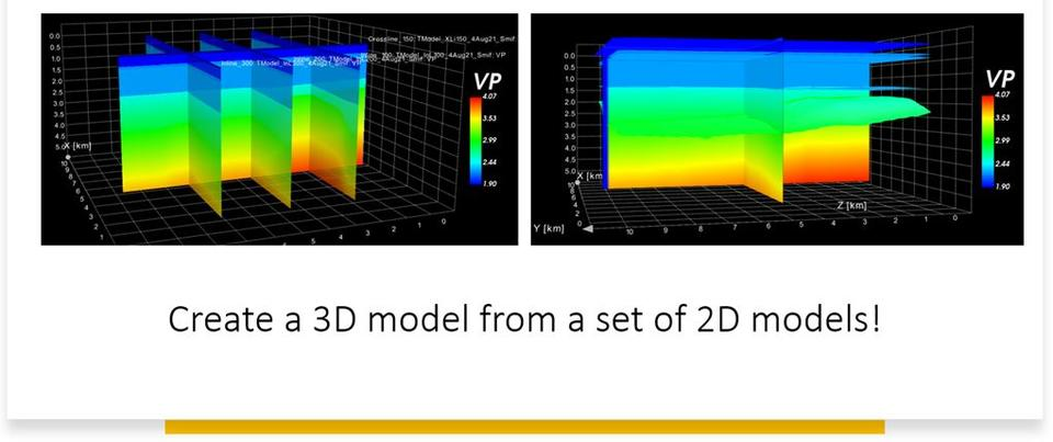 Create a 3D model from a set of 2D models